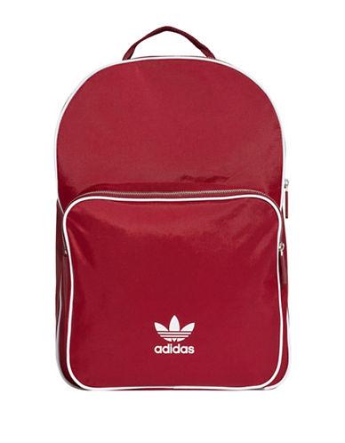 Adidas Classic Logo Backpack-BURGUNDY-One Size