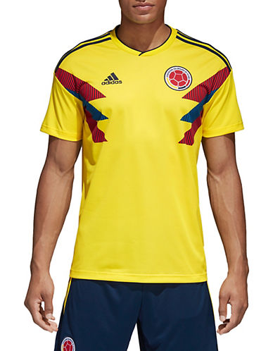Adidas Climalite Colombia Home Jersey T-Shirt-YELLOW-Small 90084139_YELLOW_Small