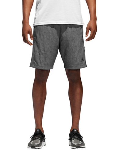 Adidas Speedbreaker Vertical Heather Mesh Shorts-GREY-Large