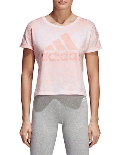 Adidas Essentials Allover Print Crop Top-WHITE/PINK-Medium 90058764_WHITE/PINK_Medium