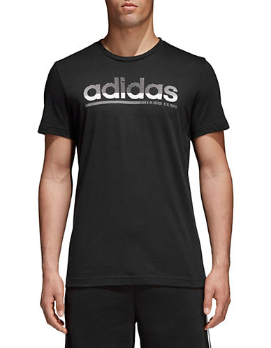 Adidas Fading Linear Cotton T-Shirt-BLACK-Large 90077326_BLACK_Large