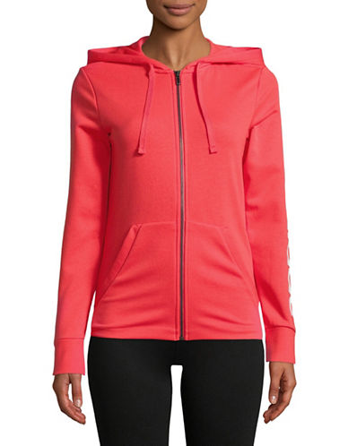 Adidas Full-Zip Hoodie-RED-X-Large