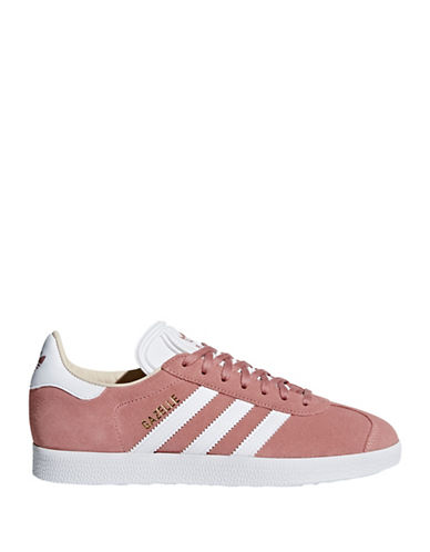Adidas Womens Gazelle Suede Low Top Sneakers-PINK-8.5