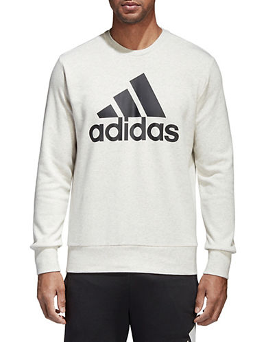 Adidas Essentials Logo Sweatshirt-WHITE-Large 90077261_WHITE_Large