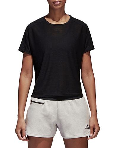 Adidas Logo Batwing-Sleeve Tee-BLACK-X-Large 90089901_BLACK_X-Large