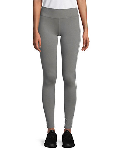 Adidas Three-Striped Leggings-GREY-X-Small