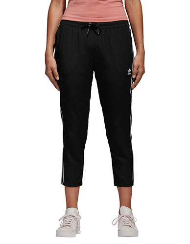 Adidas Originals Drawstring Cropped Pants-BLACK-X-Small