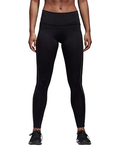 Adidas High-Rise Stretch Leggings-BLACK-Small
