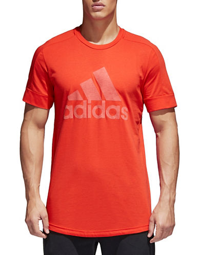Adidas ID Big Logo Tee-RED-Small
