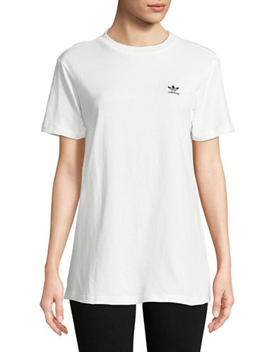 Adidas Originals Short-Sleeve Cotton Tee-WHITE-Medium