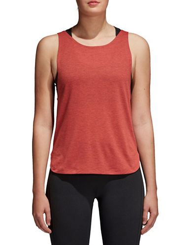 Adidas Prime Low Back Tank Top-RED-Medium