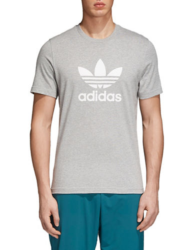 Adidas Originals Trefoil Cotton Tee-GREY-X-Large