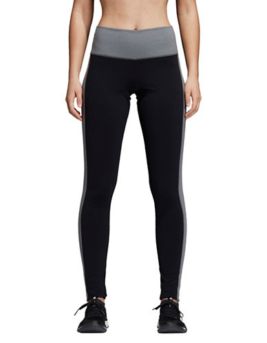 Adidas Pull-On Active Leggings-BLACK-X-Small