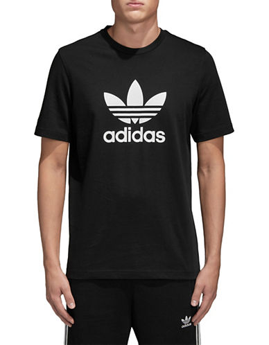 Adidas Originals Trefoil Cotton Tee-BLACK-Small