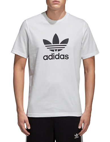 Adidas Originals Trefoil Cotton Tee-WHITE-Small