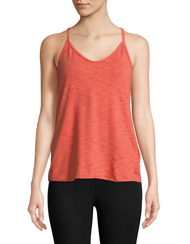 Adidas Strappy Tank Top-ORANGE-X-Small