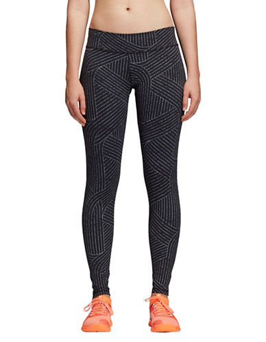 Adidas Printed Yoga Leggings-BLACK-Small 89896071_BLACK_Small
