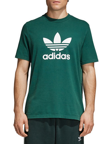 Adidas Originals Trefoil Cotton Tee-GREEN-X-Small