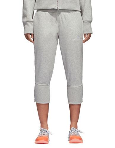 Stella Mccartney Essentials Crop Sweatpants-GREY-Large 89947587_GREY_Large