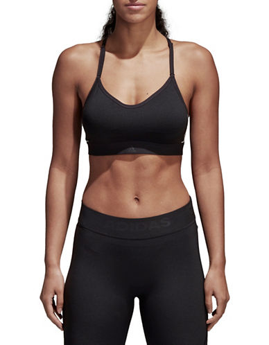 Adidas All Me Racerback Sports Bra-BLACK-Small 89747455_BLACK_Small