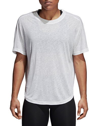 Adidas FreeLift Climalite Tee-WHITE-X-Large