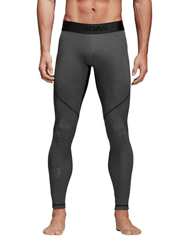 Adidas Alphaskin Sport Long Heather Tights-GREY-XX-Large