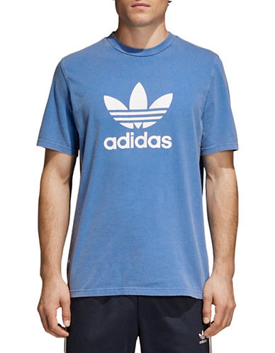 Adidas Originals Trefoil Cotton Tee-BLUE-Medium