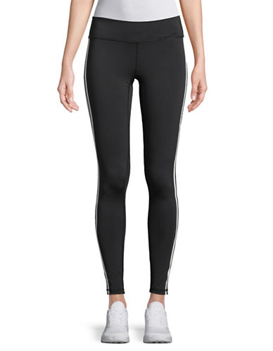 Adidas Side Stripe Leggings-BLACK-Small
