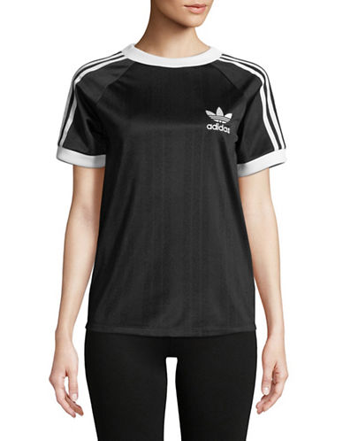 Adidas Originals Logo Short-Sleeve Tee-BLACK-X-Large