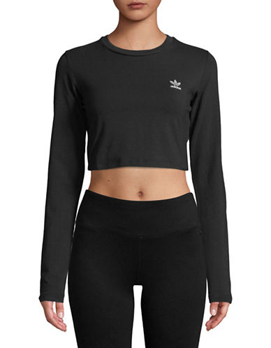 Adidas Originals Long-Sleeve Crop Tee-BLACK-X-Large 89746404_BLACK_X-Large