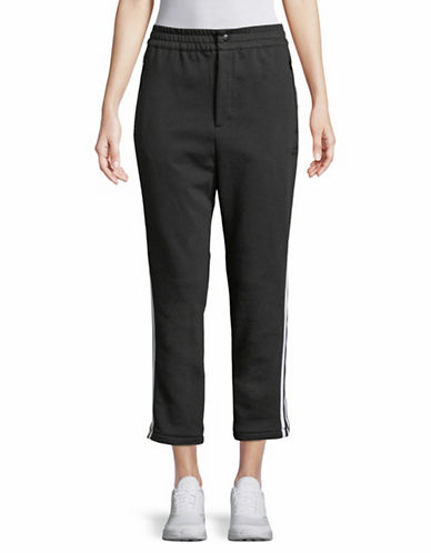 Adidas Originals Side Stripe Cropped Pants-BLACK-Medium