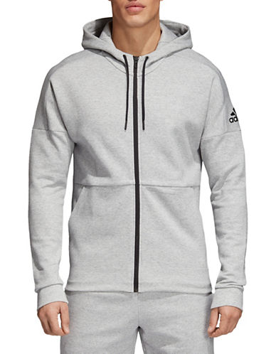Adidas ID Stadium Zip Hoodie-GREY-Medium