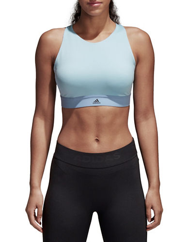 Adidas Halter Sports Bra-GREY-Small C/D