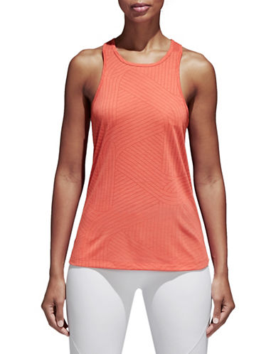 Adidas Climalite Burnout Tank Top-SCARLETT-X-Small