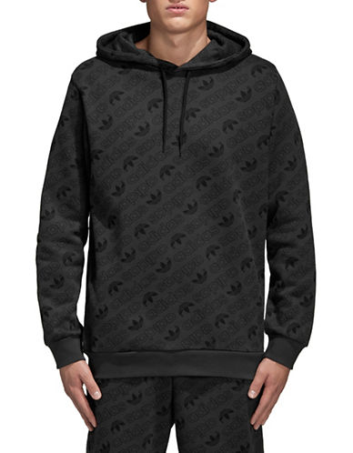 Adidas Originals Monogram Cotton Hoodie-CARBON-X-Small