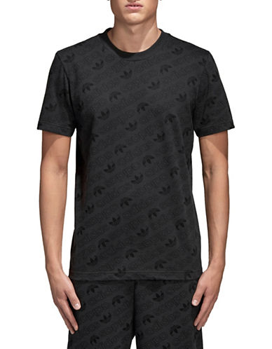 Adidas Originals Monogram Cotton Tee-CARBON-XX-Large