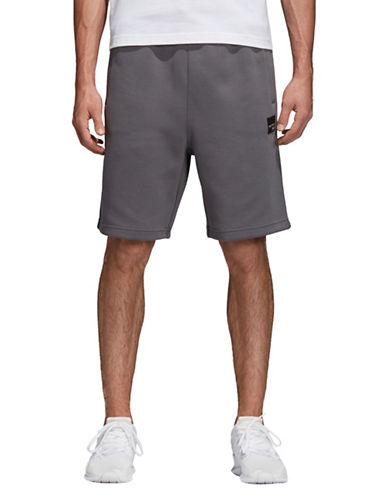 Adidas Originals Classic Pull-On Shorts-GREY-Medium