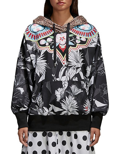 Adidas Originals Floral French Terry Hoodie-BLACK-Large 90053417_BLACK_Large