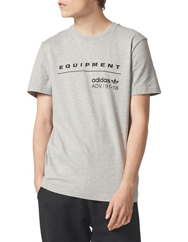 Adidas Originals Equipment ADV Cotton Tee-GREY-Medium