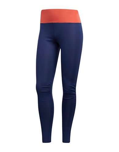 Adidas Side Ruched Leggings-TRESCA-X-Small