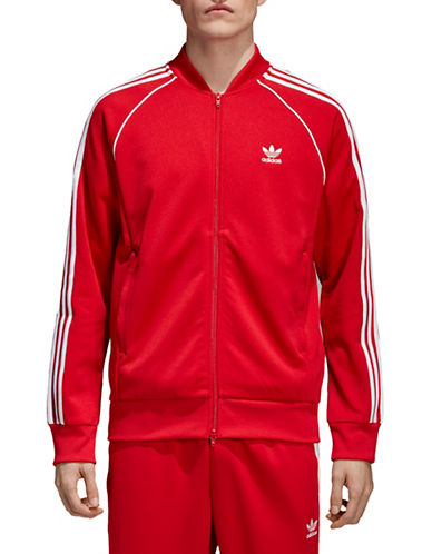 Adidas Originals SST Zip-Front Track Jacket-RED-Small