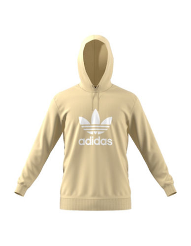 Adidas Originals Trefoil Warm-Up Cotton Hoodie-YELLOW-Small