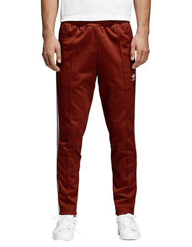 Adidas Originals Beckenbauer Pull-On Pants-RED-X-Small