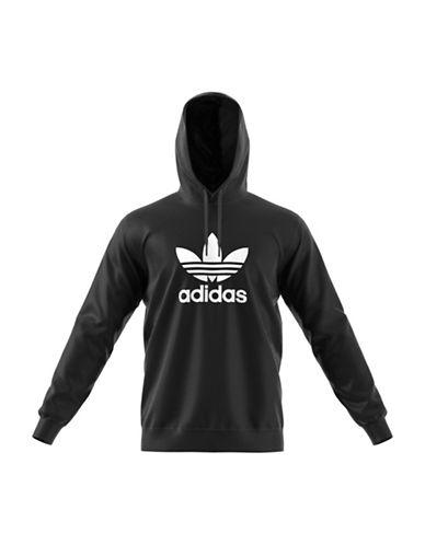 Adidas Originals Trefoil Warm-Up Cotton Hoodie-BLACK-Medium 89723011_BLACK_Medium