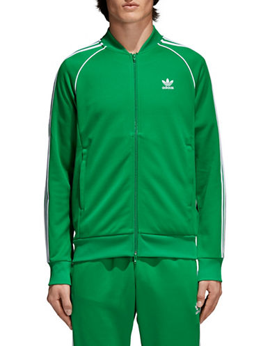 Adidas Originals SST Zip-Front Track Jacket-GREEN-Large