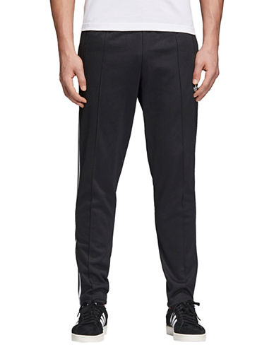 Adidas Originals Beckenbauer Pull-On Pants-BLACK-X-Small
