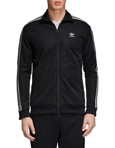 Adidas Originals BB Zip-Front Track Jacket-BLACK-Large