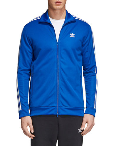 Adidas Originals BB Zip-Front Track Jacket-BLUE-Medium
