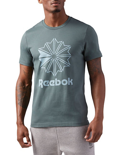 Reebok Slim-Fit Starcrest Graphic Tee-GREY-Large 90058498_GREY_Large