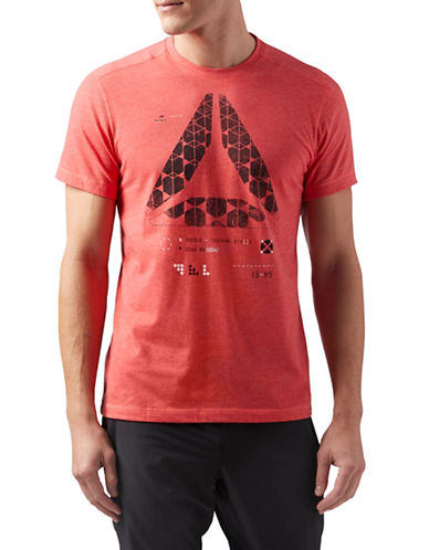 Reebok Speedwick Graphic T-Shirt-RED-Medium